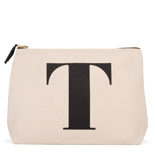 Natural Wash Bag Letter T