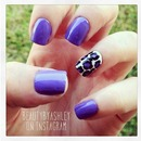 Purple Leopard Print nails! :)