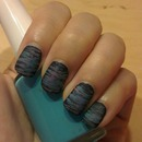 Purple and blue messy stripes