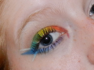 used all inglot shadows. i was also out of false lashes, so the look could've really used those, but yeah haha.