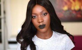 How to  gothic black makeup | black lipstick tutorial