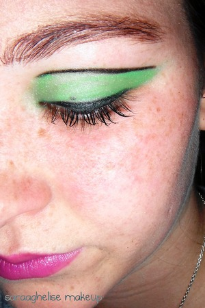 add an edge to your eyeshadow, by adding eyeliner on top.