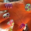 Cute Design On Acrylic Nails