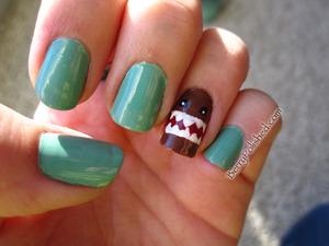 Domo-Kun nail art November '11