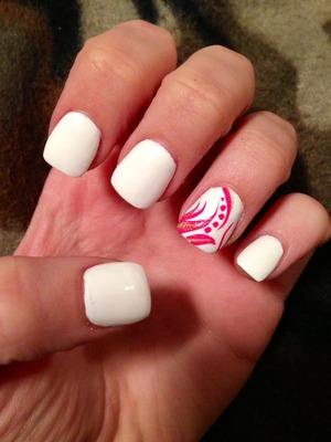 My favorite color is pink so I needed a pink accent. The white color made me feel fresh & clean! It's nice with a tan!