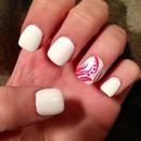 Fun White Manicure!