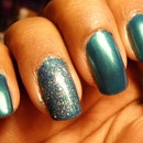 Savvy: Electric Blue + Sinful Colors: Pinky Glitter