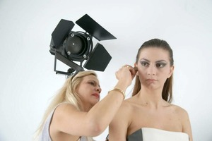 Must make sure the model's makeup is perfectly blended!!!