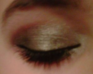 Gray, with some gold/neutral-smokey-ish, look :)