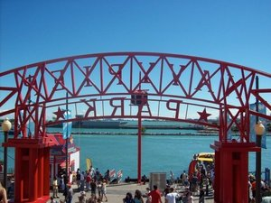 Visiting Navy Pier in Chicago.
