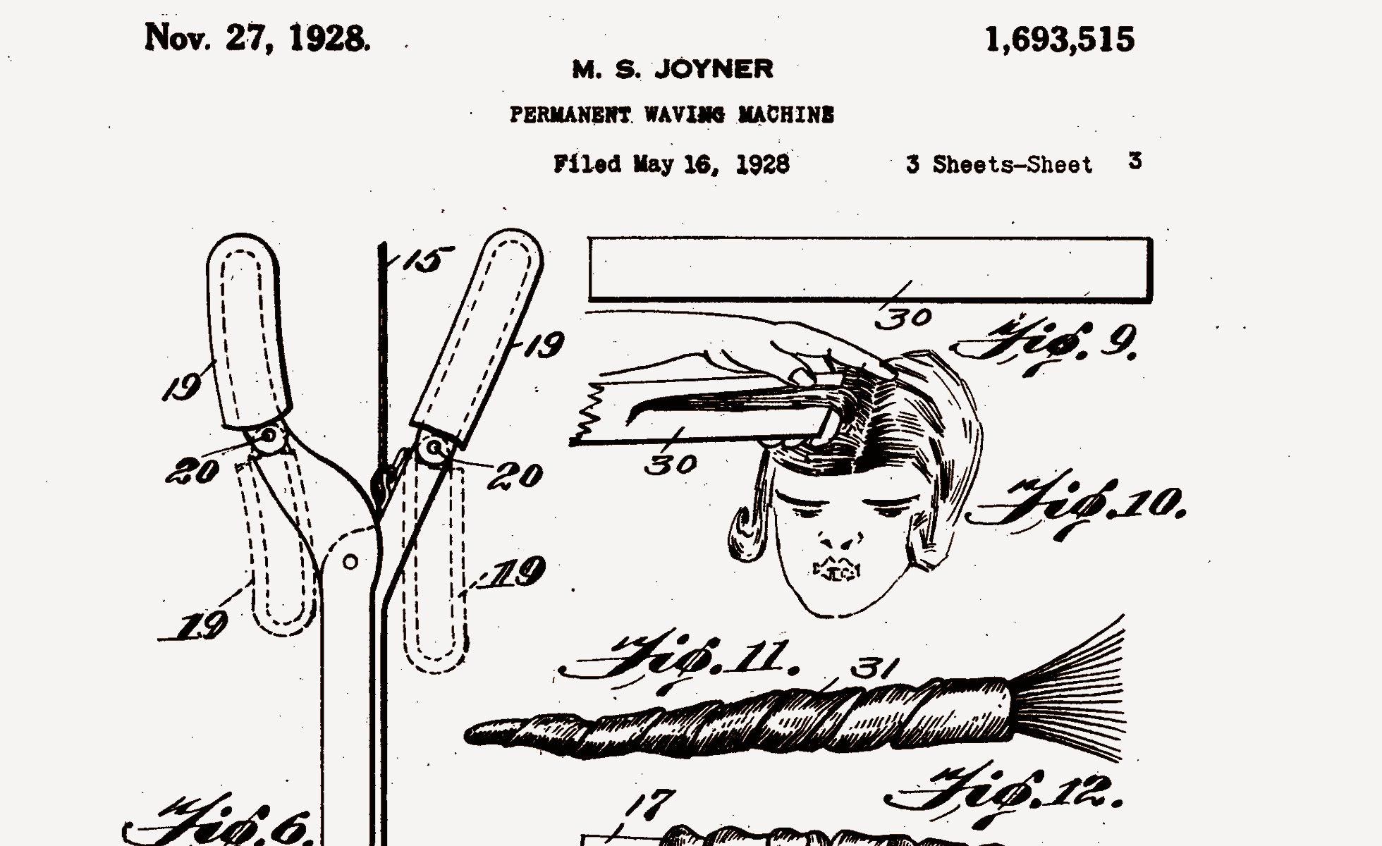 Photo: Majorie S. Joyner, US Patent 1693515