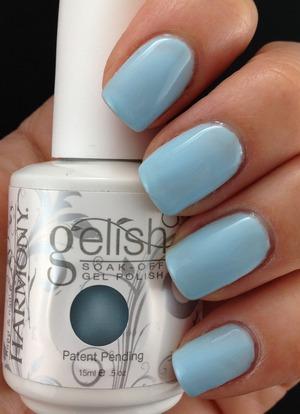 Baby blue from Gelish Soak Off Gel Polish's New Spring Collection http://lslfun.blogspot.com