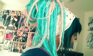 I think the reason I like dreads so much is because they remind me of tentacles. I have a weird fascination with tentacles and spider legs.