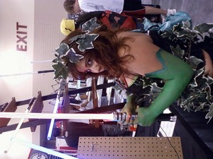 Me @ Phoenix Comicon. Made the costume and everything! Like my gloves the best and the substitution of green lipstick instead of a shimmery orange.