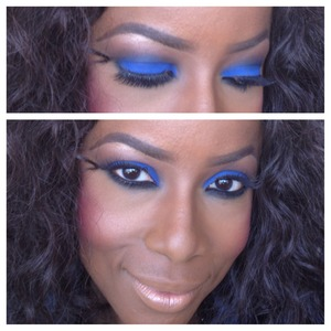 Deep blues, coppers and black