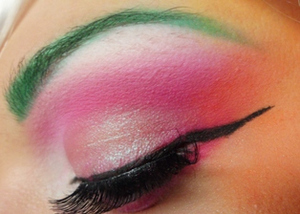 Close up of the eye makeup for A Tropical Lullaby