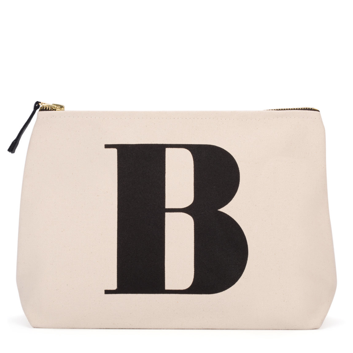 Alphabet Bags Natural Wash Bag Letter B product smear.