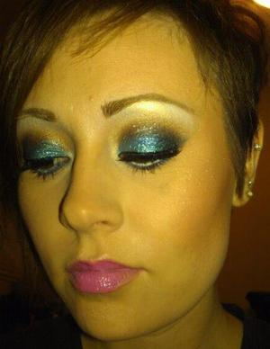 Teal & Teal Glitter