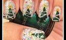 Christmas Tree Nails By The Crafty Ninja