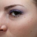 Purple Glitter On Almond Shaped Brown