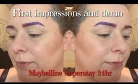 First impression and demo - Maybelline Superstay 24hr foundation  Cake Face Addict