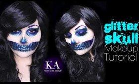Glitter Skull Halloween Makeup Tutorial - 31 Days of Halloween