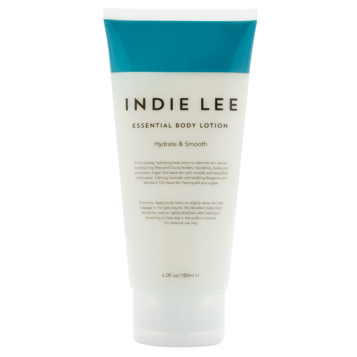 Indie Lee Essential Body Lotion 180 ml product swatch.