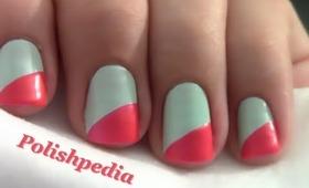 Diagonal French Tip Nails