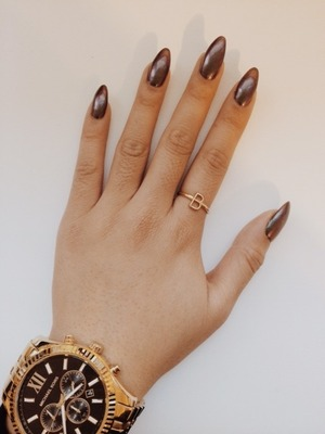 My favorite Essie two-toned nail polish - 'For the Twill of It'