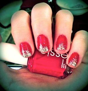 Glitter gradient nails attempt.