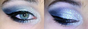 """Icy white, light blue, and blue <3  Done with Wet n' Wild """"Blue Had Me at Hello"""" and """"I <3 Matte"""" I freakin' love WNW <3"""