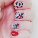 Holly and Mistletoe Nail Art
