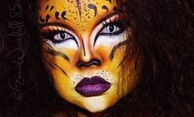 HALLOWEEN 2013 | Wild Kitty - Using Mehron AQ Paradise Palette