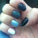 Grey Ómbre Nails