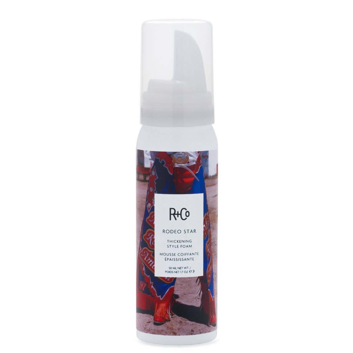 R+Co Rodeo Star Thickening Style Foam 1.7 fl oz product swatch.