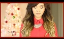 My Christmas Look! ❄ Hair, Makeup + Outfit! - ThatsHeart