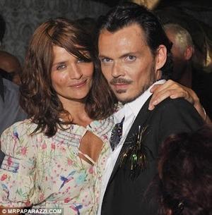 Designer Matthew Williamson and Helena Christensen..
