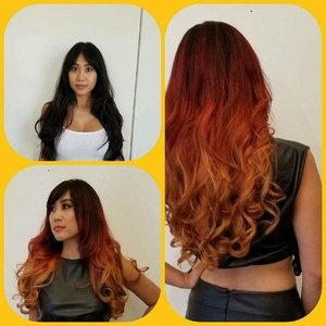 #ombre #balayage  Total transformation.  Wella products used.