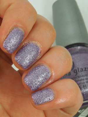 Textured lilac metallic from the China Glaze Sea Goddess Collection. More info can be found on my blog: http://www.lacquermesilly.com/2014/02/11/china-glaze-tail-something/