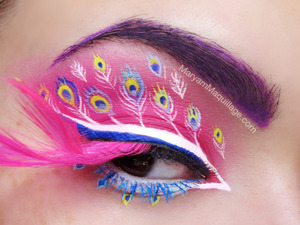 details: http://www.maryammaquillage.com/2013/03/pink-peacock-fantasy-makeup.html