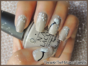 Base: OPI .:. Did You Ear About Van Gogh? Sponged with Orly .:. Nite Owl   Other: Sinful Colors .:. Nail Art Bad Chick, Sinful Colors .:. Nail Art Time Off, Mash Silver Glitter Nail Art Polish.