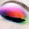 Midnight Rainbow Eye closed close up