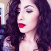 Gold Liner and Red Lips