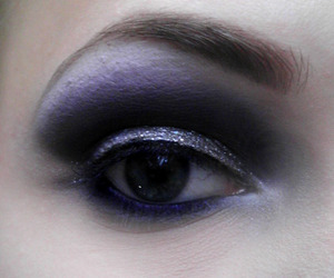 I used mainly Maybelline Eyestudio Duo in Purple Silver