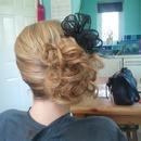 side messy curls