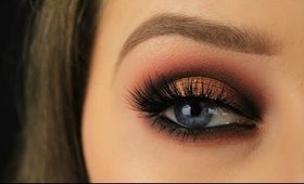 Dramatic Cranberry & Gold Halo Eye | Fall/Autumn Makeup