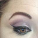 purple cut crease and cat eye!