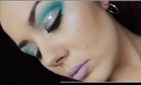 Blue Cut Crease with Glitter Makeup Tutorial