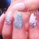 Girly nails...add our Facebook page...love Dolly-Glitter