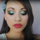 Emerald green double winged eyes